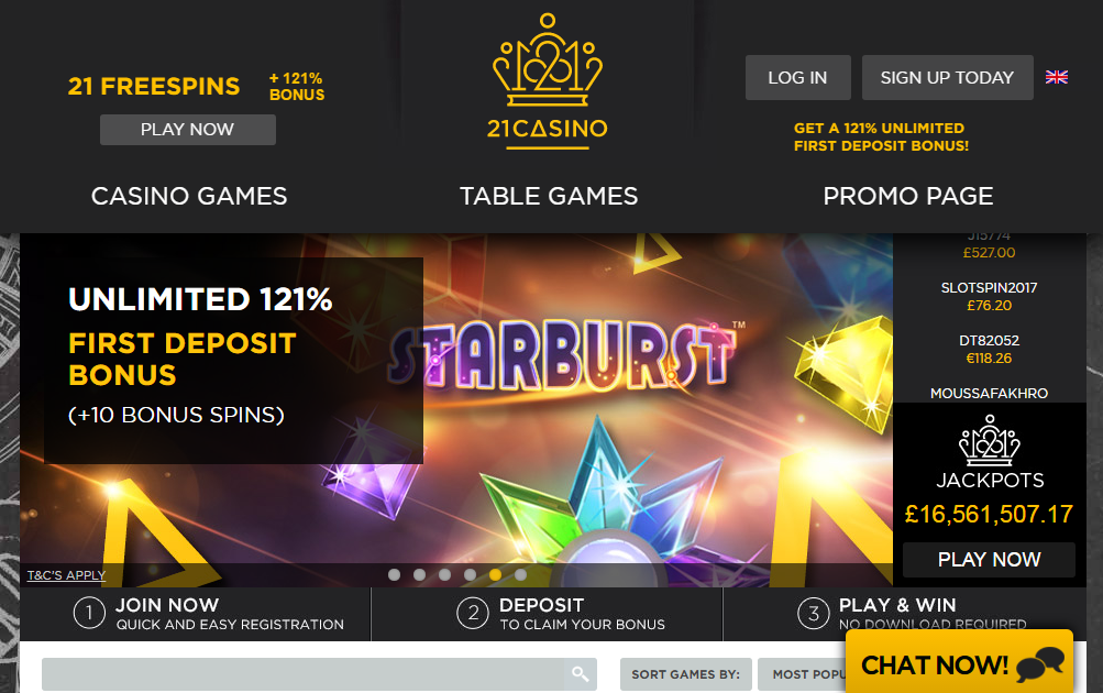 21.Co.Uk Casino Review