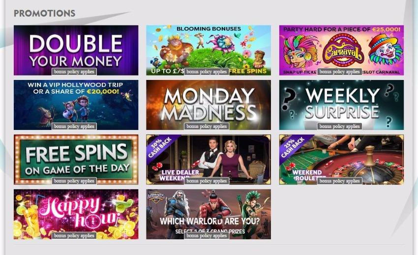 Dazzle Casino Promotions