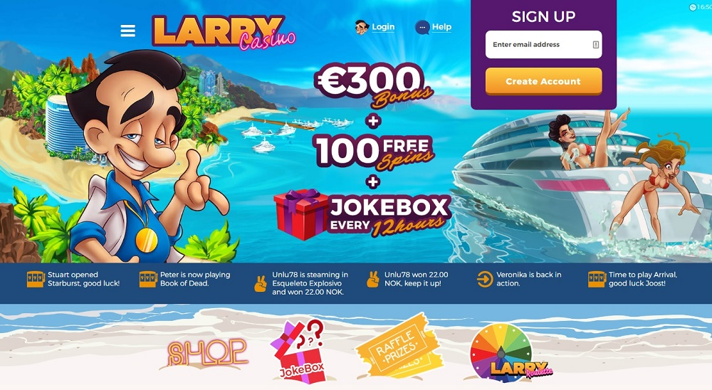 Larry Casino Homepage