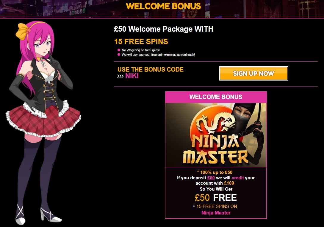 LuckyNiki Casino Welcome Bonus