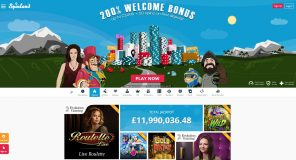 Spinland Casino Homepage - Welcome Bonus