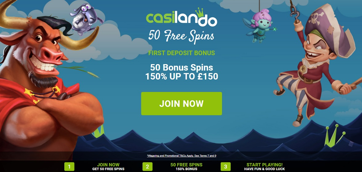 Casilando Casino Welcome Offer