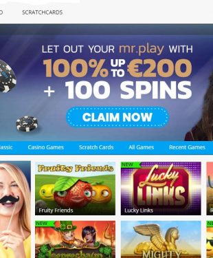 Mr Play Casino Homepage