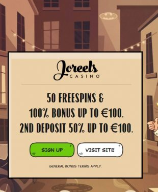 Joreels Casino Welcome Page