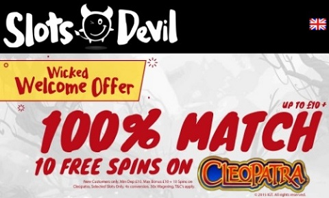 Slots Devil Casino - Wicked Welcome Offer