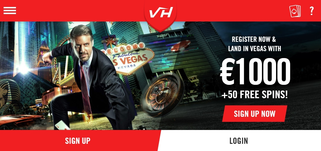 Vegas Hero Casino Homepage