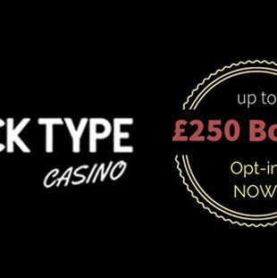 Black Type Casino - Logo and Welcome Bonus