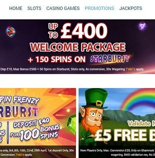 Planet Fruity Casino - Welcome Bonus - Homepage Screencap