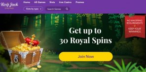 King Jack Casino - Royal Spins Welcome Offer