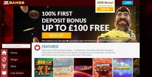 X-Factor Games Casino Homepage