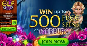 Elf Slots Casino - Homepage - Bonus Offer